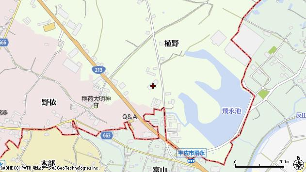 大分県中津市植野772周辺の地図