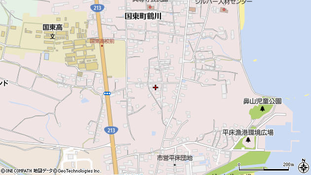 大分県国東市国東町鶴川1502周辺の地図