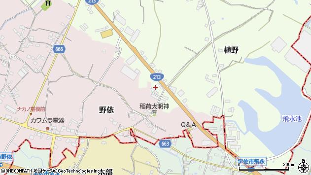 大分県中津市植野518周辺の地図