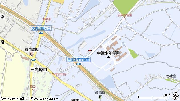 大分県中津市加来1117周辺の地図