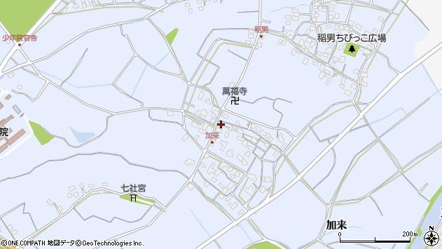 大分県中津市加来696周辺の地図
