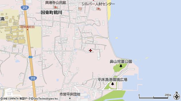 大分県国東市国東町鶴川865周辺の地図