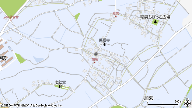 大分県中津市加来899周辺の地図