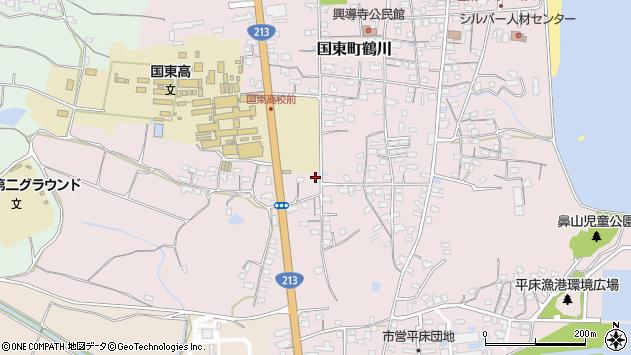大分県国東市国東町鶴川1767周辺の地図