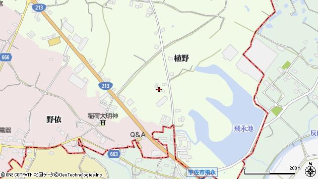 大分県中津市植野776周辺の地図