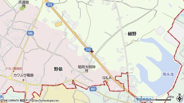 大分県中津市植野520周辺の地図