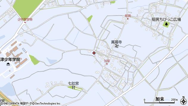 大分県中津市加来920周辺の地図