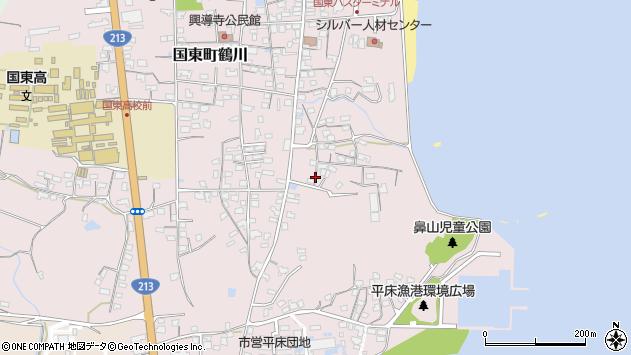 大分県国東市国東町鶴川852周辺の地図