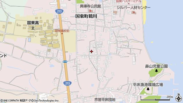 大分県国東市国東町鶴川1499周辺の地図