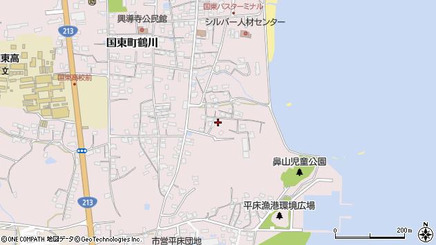 大分県国東市国東町鶴川858周辺の地図