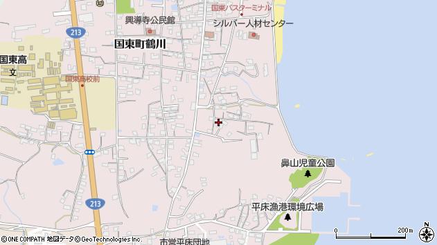 大分県国東市国東町鶴川857周辺の地図