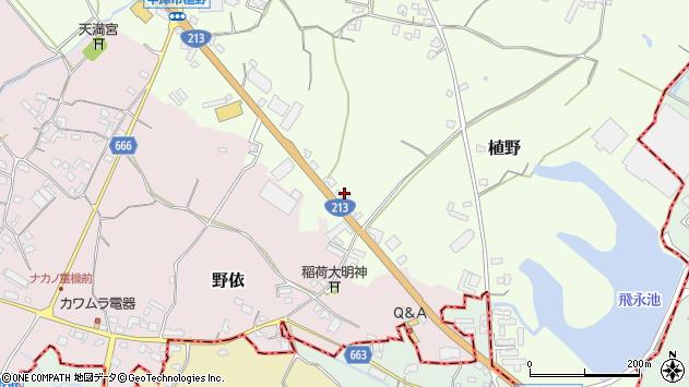 大分県中津市植野509周辺の地図