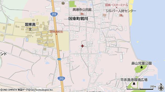 大分県国東市国東町鶴川1497周辺の地図