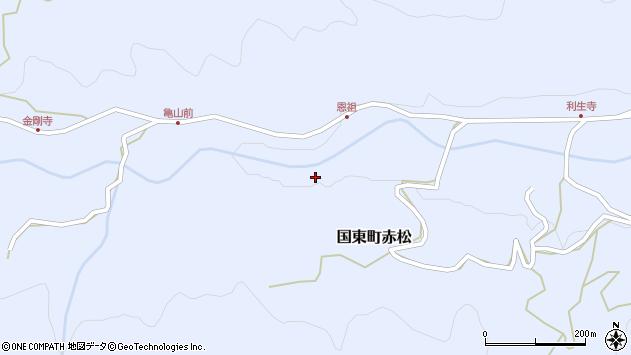 大分県国東市国東町赤松恩祖周辺の地図