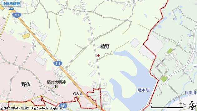 大分県中津市植野751周辺の地図