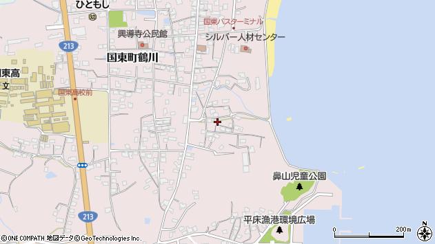 大分県国東市国東町鶴川831周辺の地図