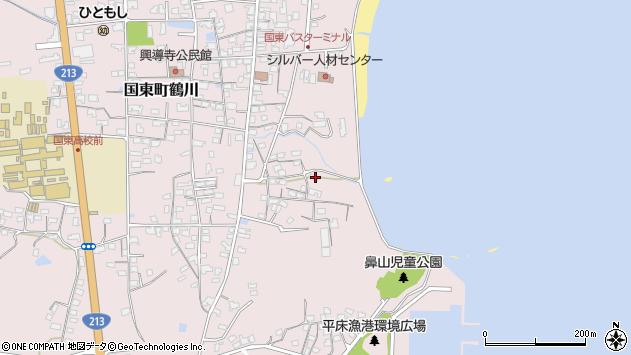 大分県国東市国東町鶴川785周辺の地図