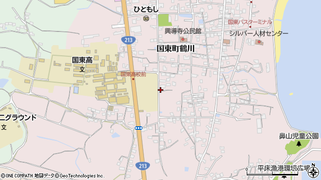 大分県国東市国東町鶴川1444周辺の地図