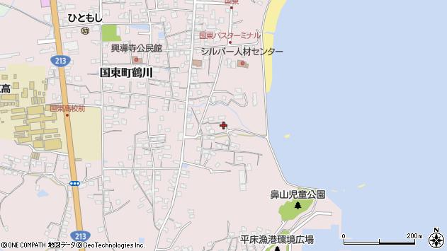 大分県国東市国東町鶴川797周辺の地図
