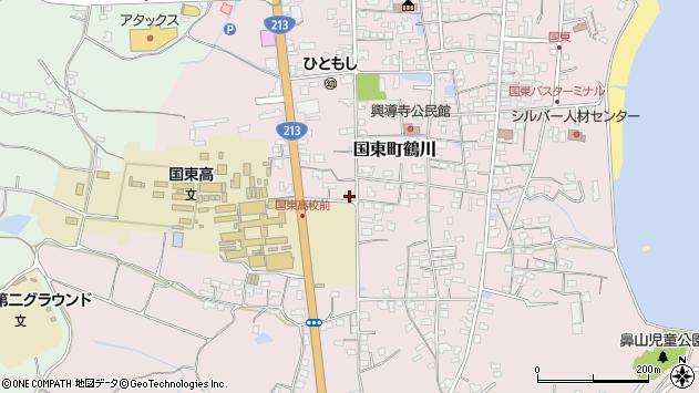 大分県国東市国東町鶴川1791周辺の地図