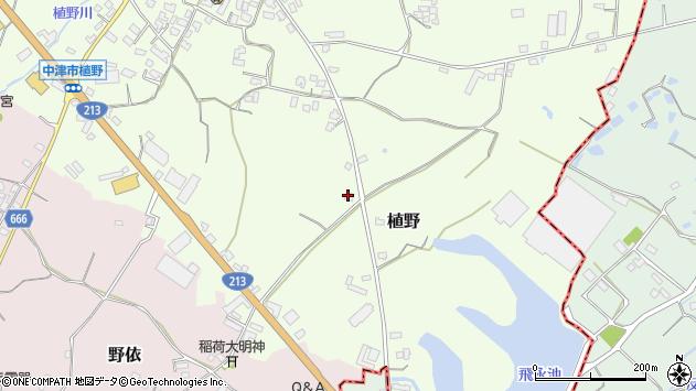 大分県中津市植野597周辺の地図