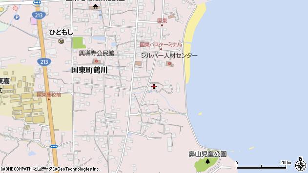 大分県国東市国東町鶴川747周辺の地図