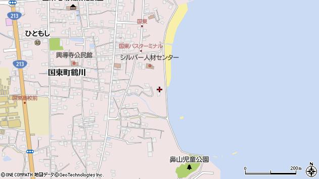 大分県国東市国東町鶴川672周辺の地図