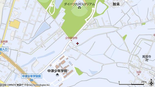 大分県中津市加来1068周辺の地図