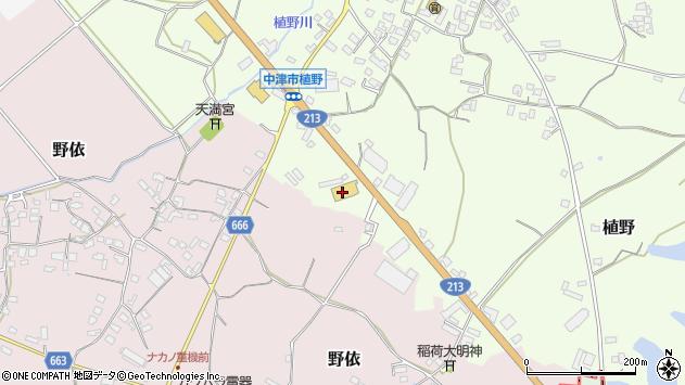 大分県中津市植野382周辺の地図
