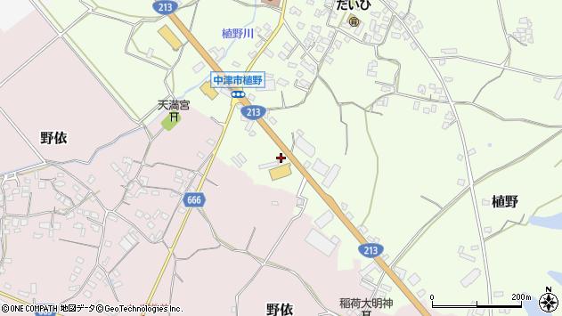 大分県中津市植野463周辺の地図