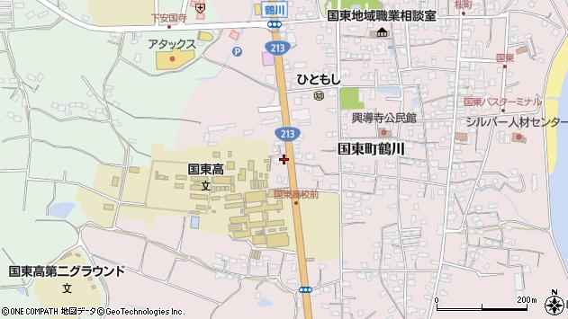 大分県国東市国東町鶴川1950周辺の地図