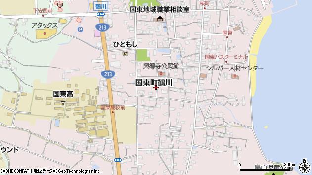 大分県国東市国東町鶴川1417周辺の地図