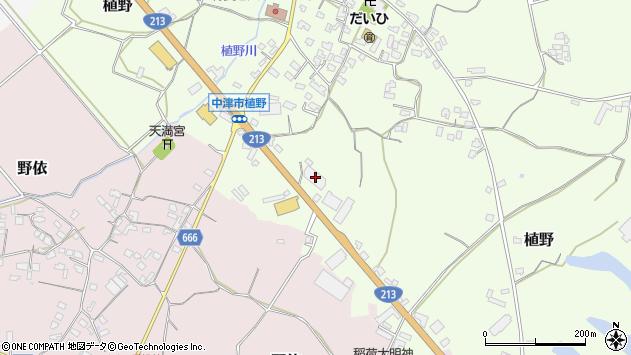 大分県中津市植野448周辺の地図