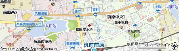 福岡県糸島市前原中央2丁目周辺の地図