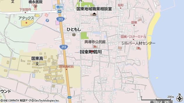 大分県国東市国東町鶴川1418周辺の地図