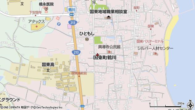 大分県国東市国東町鶴川1403周辺の地図