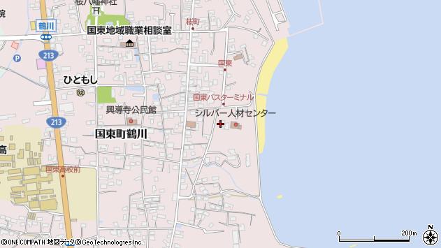 大分県国東市国東町鶴川702周辺の地図