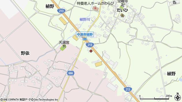大分県中津市植野391周辺の地図