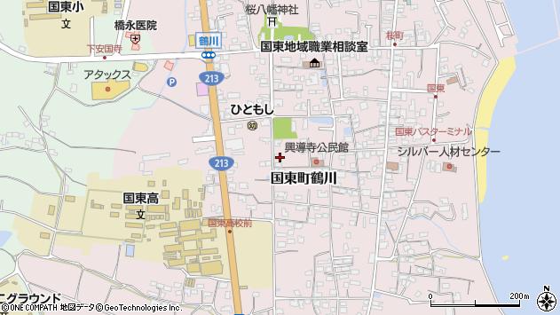大分県国東市国東町鶴川1396周辺の地図