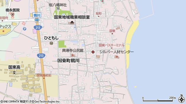 大分県国東市国東町鶴川1206周辺の地図