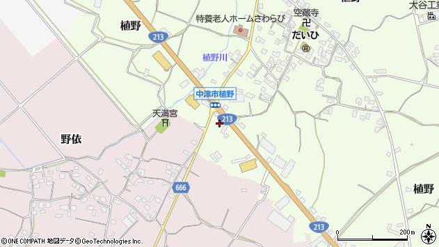 大分県中津市植野376周辺の地図