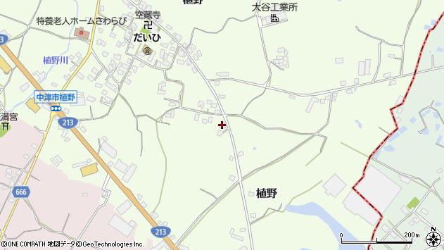 大分県中津市植野641周辺の地図