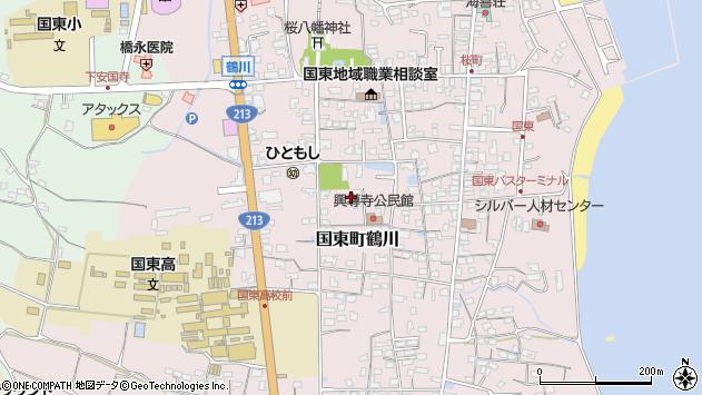 大分県国東市国東町鶴川1398周辺の地図