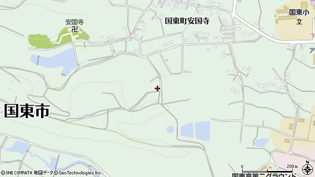 大分県国東市国東町安国寺2478周辺の地図
