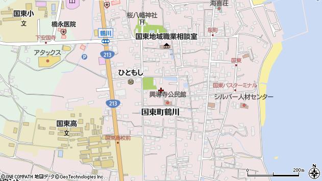 大分県国東市国東町鶴川1381周辺の地図