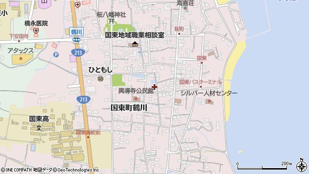 大分県国東市国東町鶴川1231周辺の地図