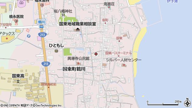 大分県国東市国東町鶴川1245周辺の地図