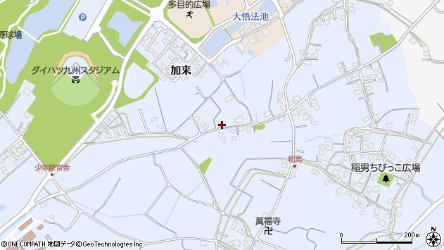 大分県中津市加来554周辺の地図