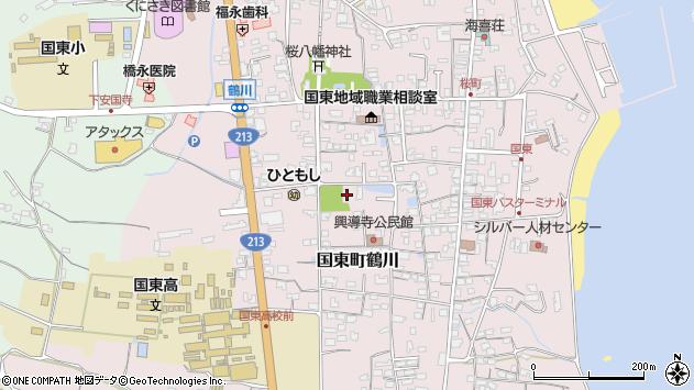 大分県国東市国東町鶴川1388周辺の地図