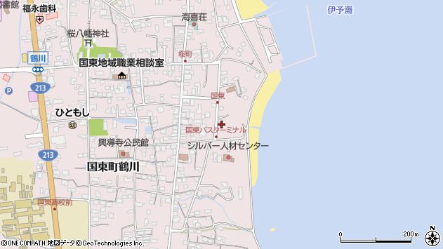 大分県国東市国東町鶴川636周辺の地図